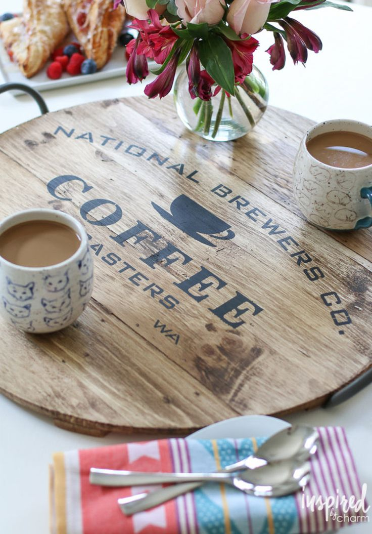 DIY Serving Tray for Coffee | Best of 2016: DIY - Inspired by Charm