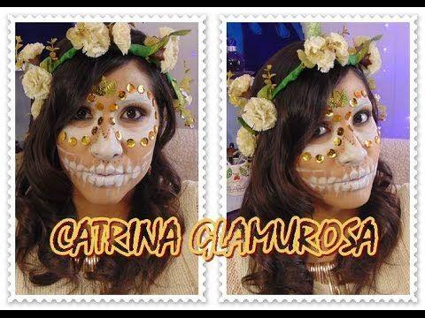 "CATRINA BLANCA Y GLAMUROSA "" maquillaje facil """