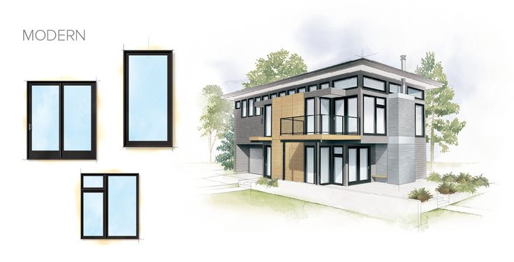 Modern Home Style Window Door Overview House Styles Contemporary Windows Mid Century