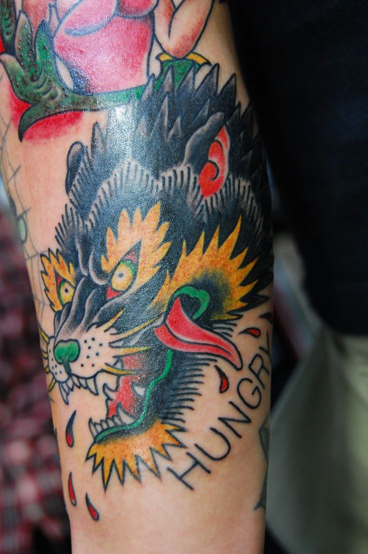 Indian with eagle and wolf tattoo on shoulder tattooimages biz - 73 Amazing Wolf Tattoo Designs