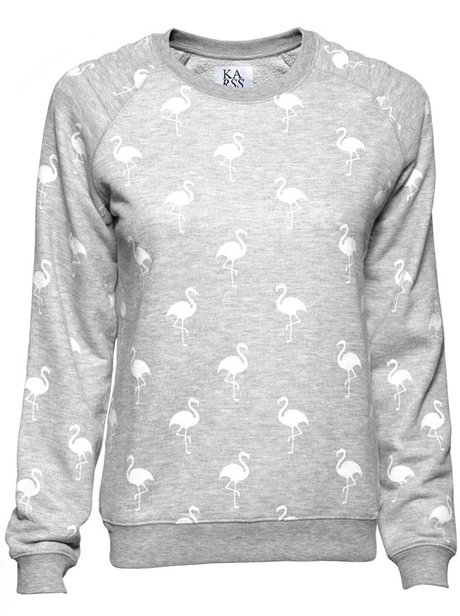 Flamingo All Over Sweater - Heather Grey | ZOE KARSSEN | Designers | Shop-Label.com