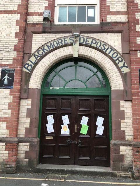 Blackmore's Depository, ghost sign, Bideford, Devon