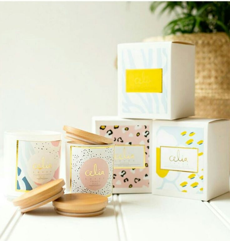 Celia Loves Candles - Graphic Art Labels by I am Sali Design