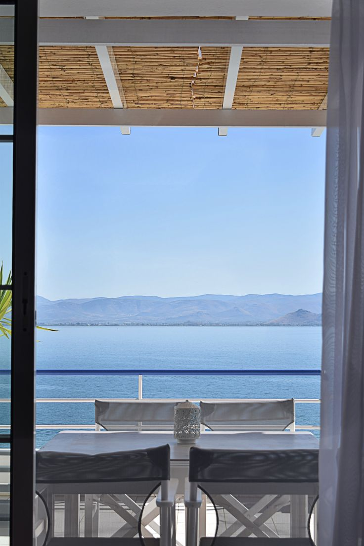 Sea view from unique waterfront Loft apartment in Meli Apartments & Villas in Kiveri Argolis close to #Nafplion, #Peloponnese, # holiday, # rental, #apartments, # travel #meliapartments