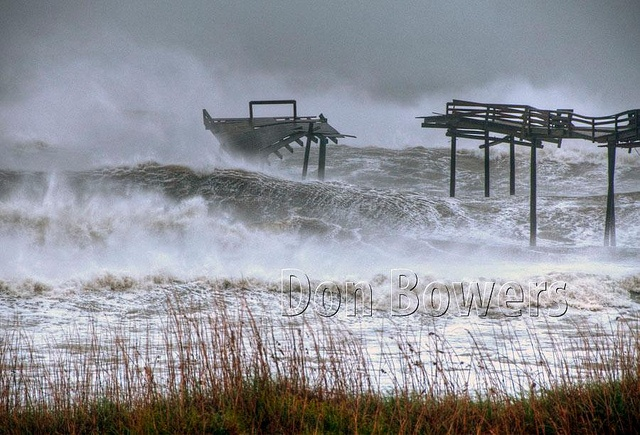 Hurricane Sandy, Oct. 28-29, 2012 at the Outer Banks, NC. Frisco Pier