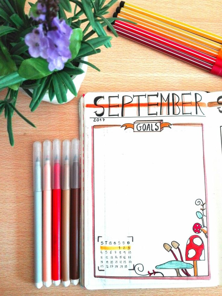 Bullet Journal PT - September plan - monthly goals