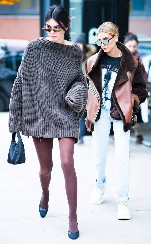 b3e38480c443 Kendall Jenner   Hailey Baldwin from Best Celeb Street Style From NYFW  Winter 2018 Friends that slay together