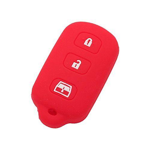 Gules Rpkey Silicone Keyless Entry Remote Control Key Fob Cover Case protector For Toyota 4Runner Corolla Matrix RAV4 Venza Yaris Pontiac Vibe Scion iQ tC xB xD HYQ12BBY MOZB41TG