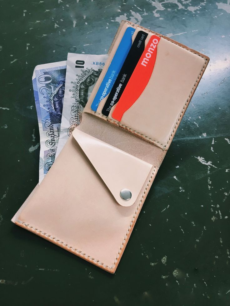 Colston Bi-Fold Coin Wallet by Arkin Leather Goods