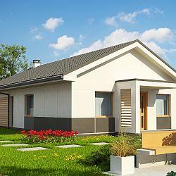 Parterowy dom na wąską działkę < 16m o powierzchni użytkowej 90 m2...