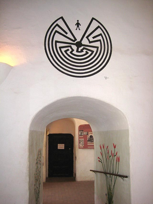 San Xavier del Bac Man in the Maze