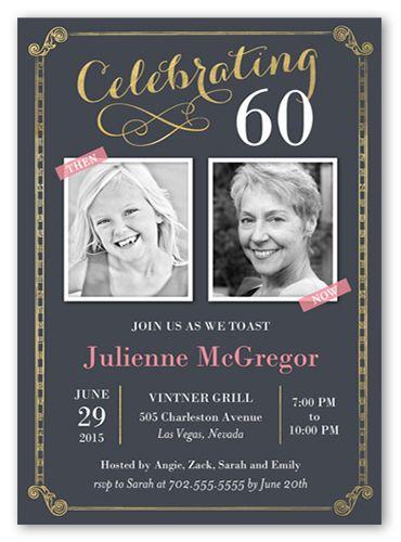 Celebration Scrolls 5x7 Invitation Card | Birthday Party Invitations | Shutterfly
