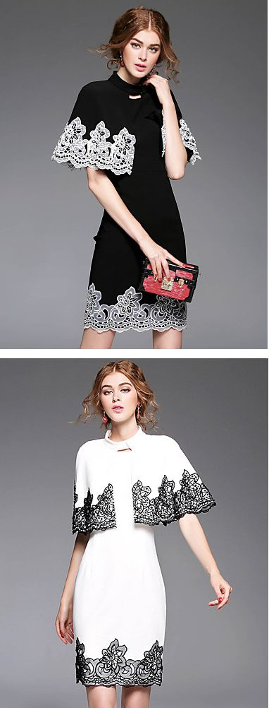For lace lovers - this is the most charming elegant lace dress you will find. It comes in black and white colors at just $82.99. Now you know what to wear for any occasion. Just click on the picture