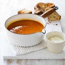 Soupe de potiron rôti et au gingembre
