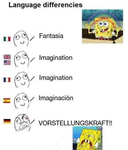Ha very funny! I study German and it is a harsh sounding language!