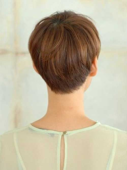 Long Pixie Hair Back View