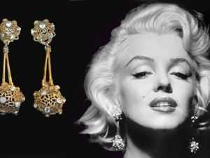 marilyn earrings marilyn wearing gold pearl earrings in quot gentlement 6798