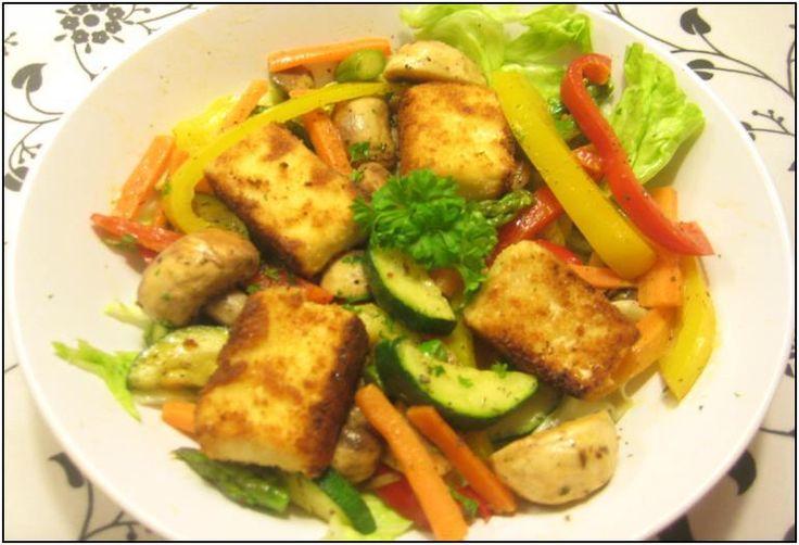 Stegt feta salat   Til Dorte