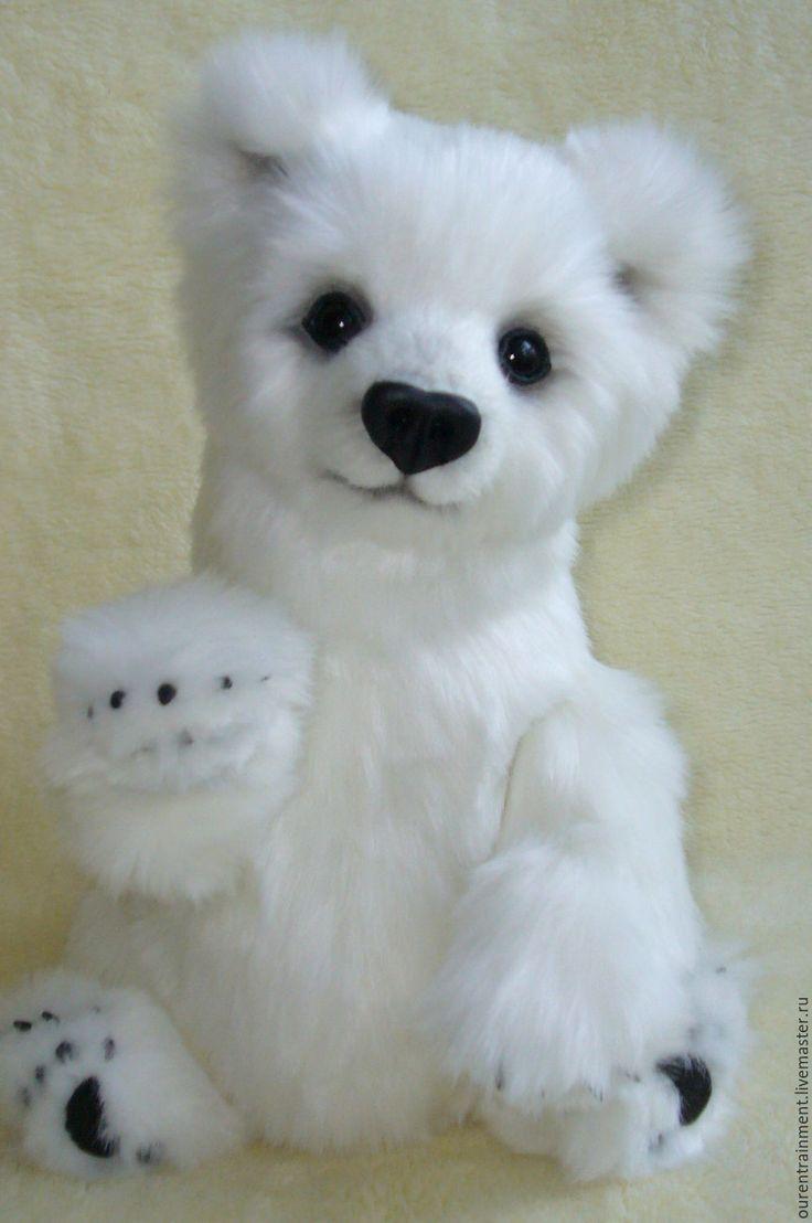 Купить Мишка Снежка (36 см) - белый, мишка, мишка тедди, белоснежный, белый мишка