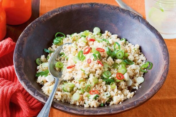 This 'rice' is a great side to get kids eating more vegies. Omit the chillies and serve with a stir-fry or casserole.