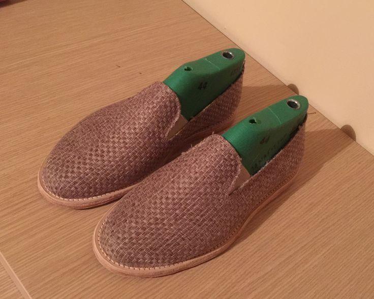 Men espadrilles - men shoes - summer - summer shoes - Handmade- Grecia - Greece - leather - mat - mat fabric