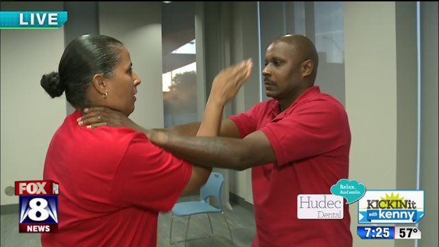 CLEVELAND, Ohio -- Positive police! That was the theme Wednesday at the Third District Police Department in Cleveland. Fox 8's Kenny Crumpton stopped by and gave us a look at some cool demonstratio...
