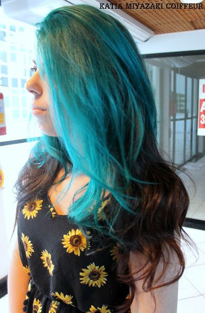 Katia Miyazaki Coiffeur - Salão de Beleza em Floripa: Turquesa - hair color - Cabelo longo - ondulado - ...