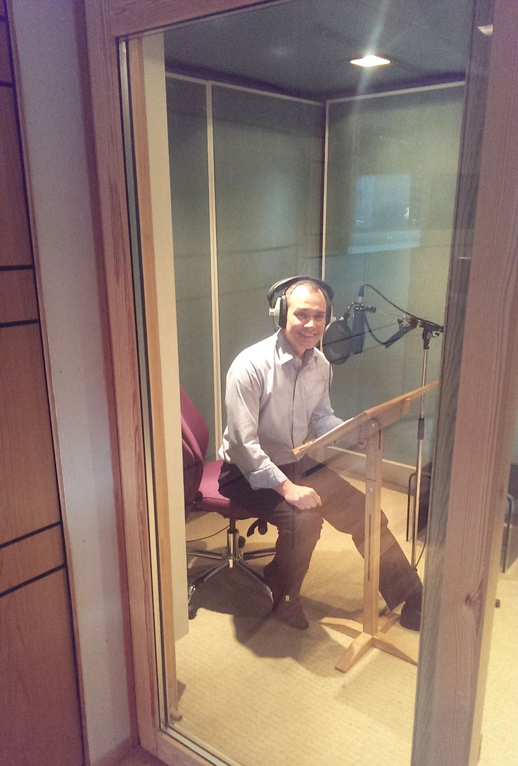 It's George Smart - our resident Broadway star, turned business development, recording a new video voice over!