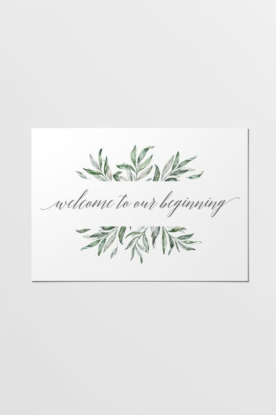 Easy to print wedding stationery for only $5. This printable sign is part of the Olive wedding stationery collection. Olive branch pattern play and a sloping grey font combine to bring a touch of earthy romance to your occasion.: