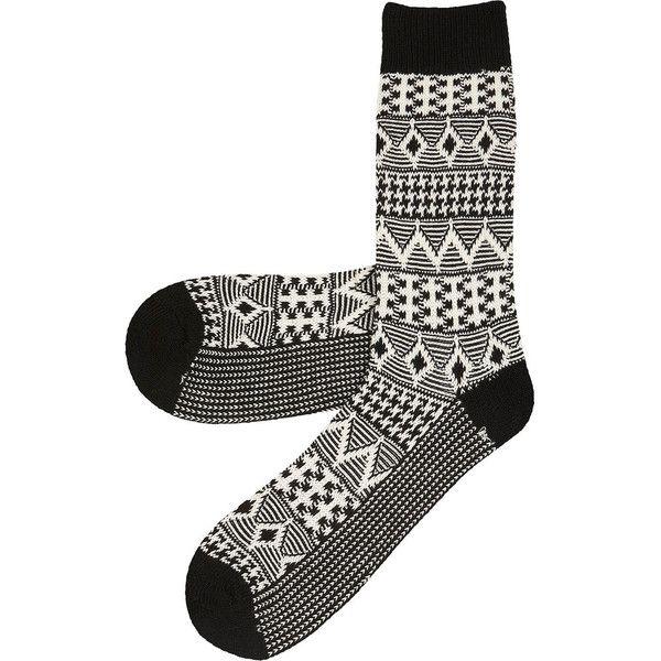 Black And White Boot Socks ❤ liked on Polyvore featuring intimates, hosiery, socks, accessories, black and white socks, black white socks and white and black socks
