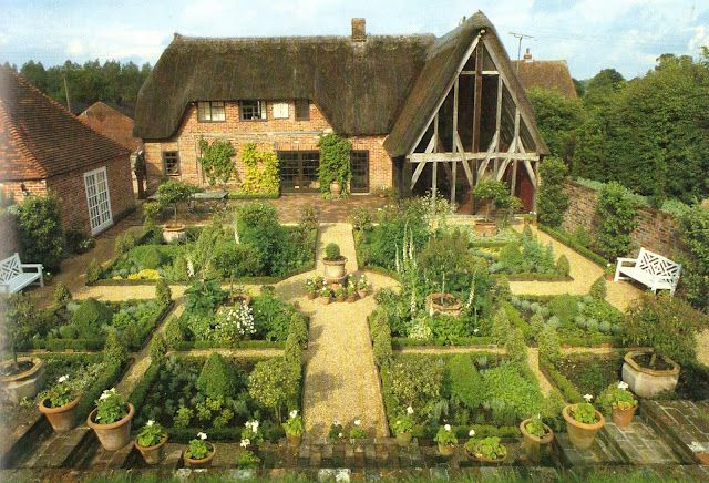 English kitchen garden...if i could garden, this is what mine would look like...i wish..