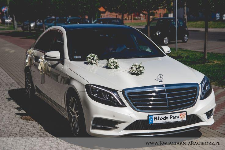 Strojenie samochodu na ślub wesele car wedding decoration