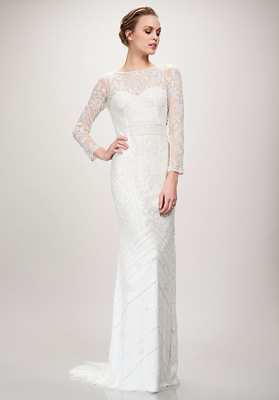 The 16 best theia wedding dresses images on pinterest short beaded art deco long sleeved wedding dress from theia orlando fl junglespirit Gallery
