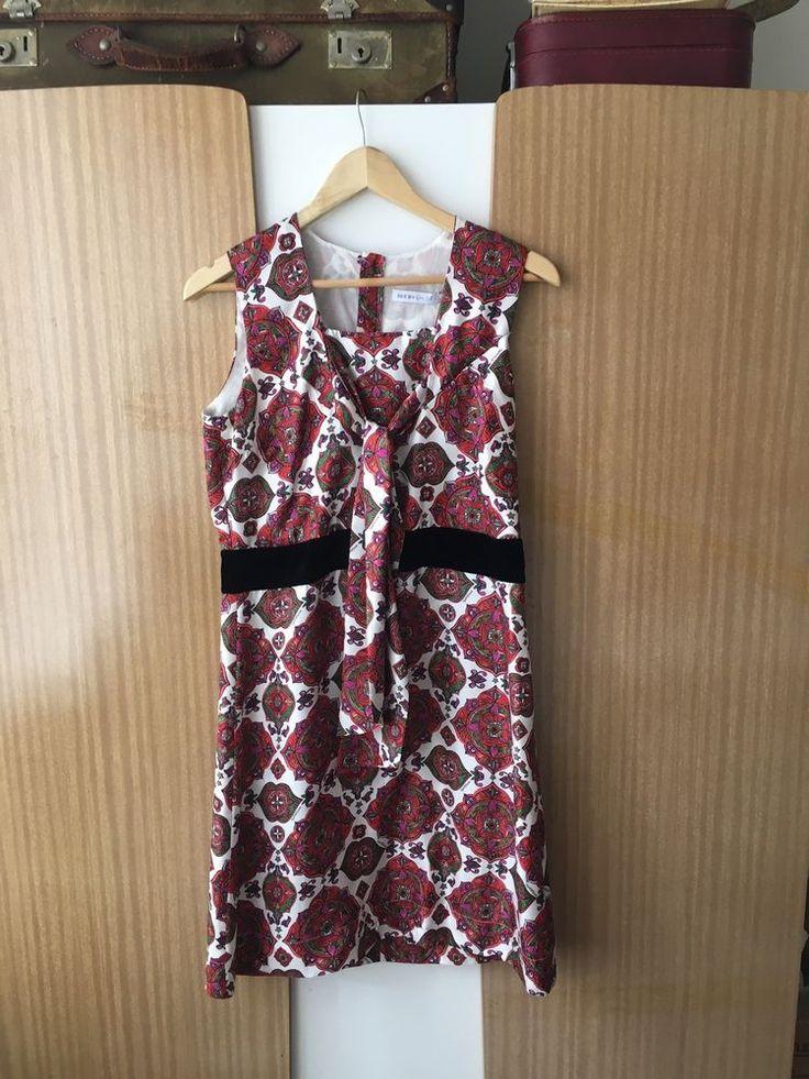 Retro Style See By Chloe Silk Dress - Vintage 60s Paisley Boho  | eBay