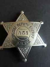 Vintage Riverside County California Special Deputy Sheriff Badge HM L A Stamp