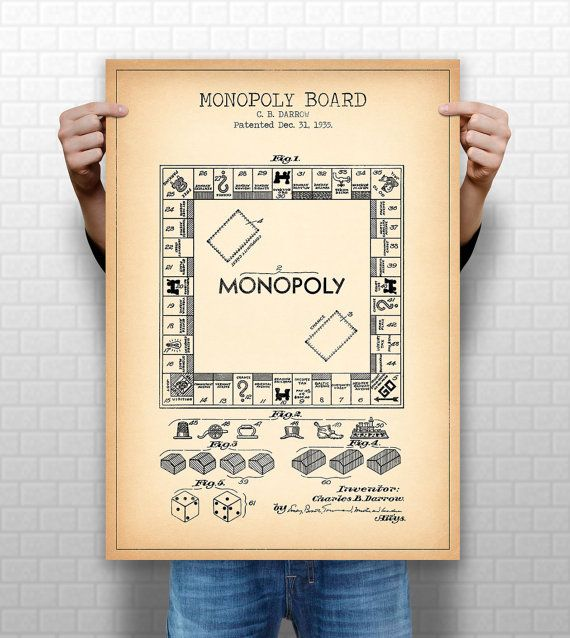 8 best monopoly images on pinterest board games poster prints and monopoly poster monopoly patent monopoly blueprint monopoly illustration monopoly wall art board game gaming gamer 1031 malvernweather Choice Image