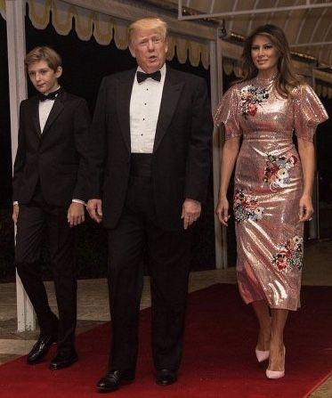 President, First Lady Melania Trump & Barron
