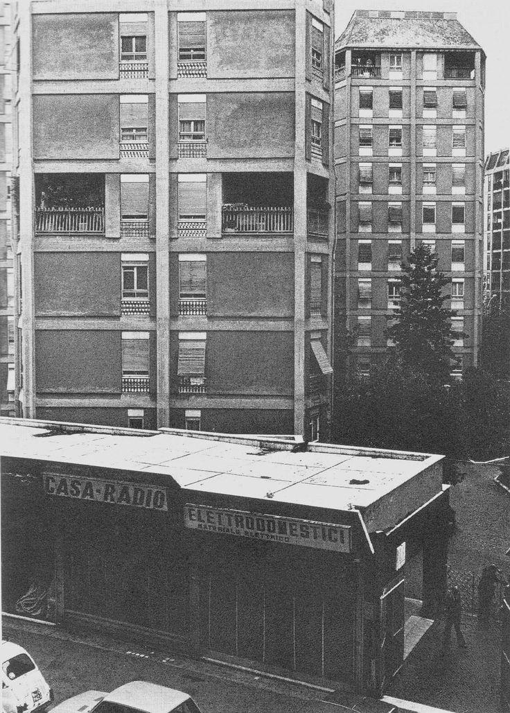 Mario Ridolfi e Wolfang Frankl, Case-torri Ina-Assicurazioni in viale Etiopia a Roma (1950-54) // foto Sforza
