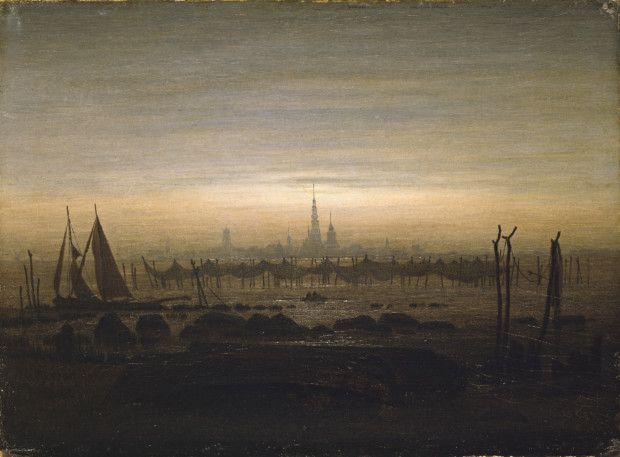 Caspar David Friedrich, Greifswald in moonlight, 1817, National Gallery, Oslo