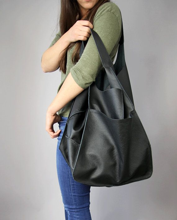 2f4da9bdf6 BLACK hobo bag, Weekender Oversized bag, Large tote bag, Black Handbag for  Women, Soft Leather Bag, Every Day Bag | Products | Bags, Large leather tote  bag, ...