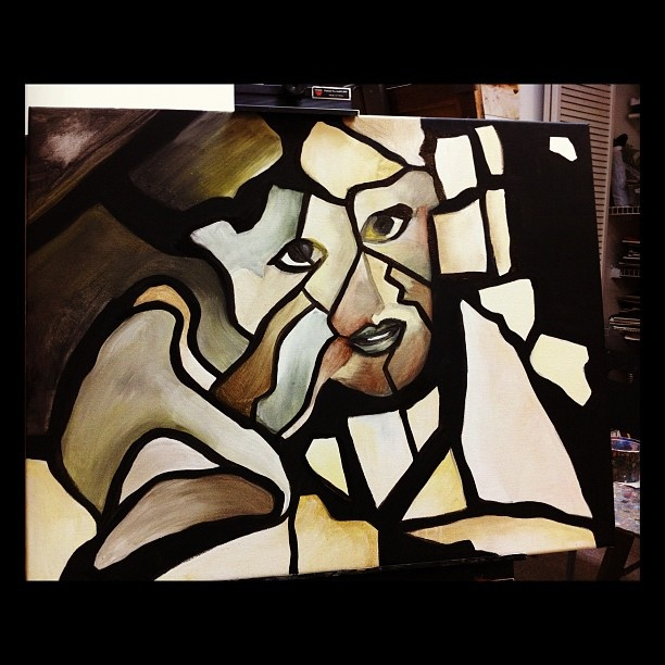 shattered glass #painting #cubism #art