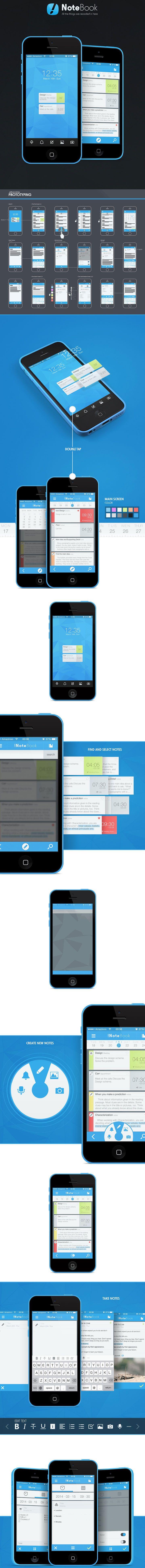 !NoteBook app#ui #ux #mobile #design #app