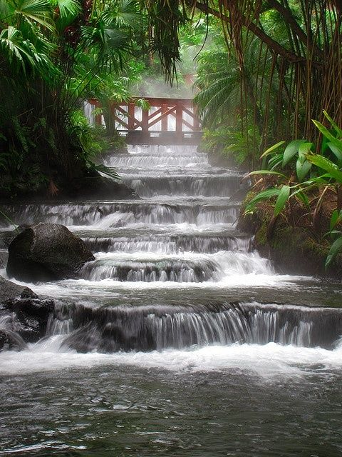 Hot Springs Waterfall, Arenal Volcano, Costa Rica. This destination was amazing! One of my favorite getaways.Spring Waterfall, Hotsprings, Costa Rica, Costa Rica, Arenal Volcano, Spring Locations, Places, Travel, Hot Springs