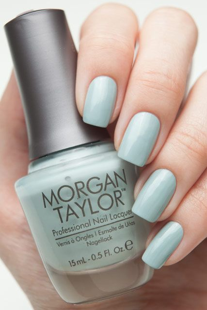 Morgan Taylor Hocus Pocus - muted green creme.  #nail polish / lacquer / vernis, swatch /manicure
