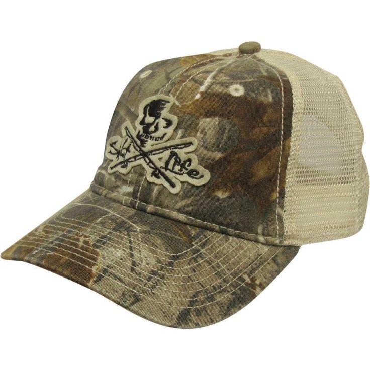 Salt Life Skull & Poles Mesh Back Hat, Men's, Camo Ap