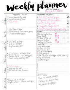 Weekly Planner Printable Weekly Organizer // A4 от EasyPeasyPaper