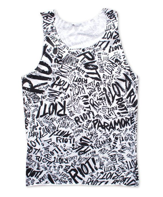 Riot! Paramore Tank Top Screening Both Side American Alternative Punk Rock Album Shirt Size S M L