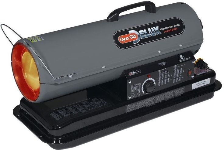 Dyno-Glo 75K BTU Indoor/Outdoor Multi-Fuel Portable Space Heater, KFA75DGD #DynoGloGHPGroupInc