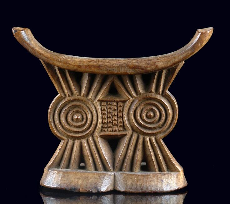 Africa headrest from the shona people of zimbabwe wood for Bathroom accessories zimbabwe