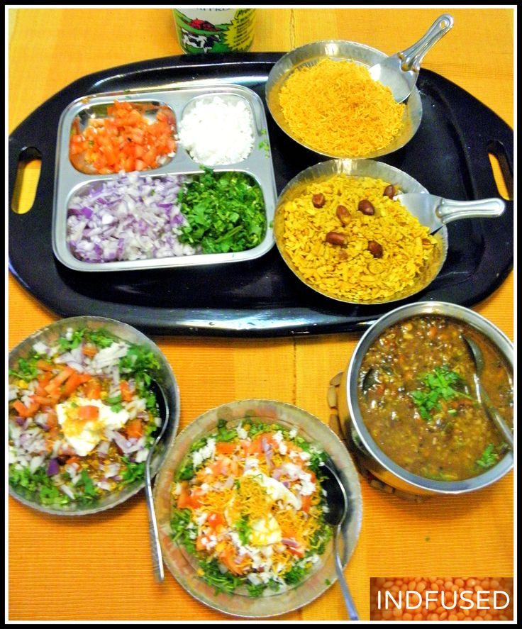 Misal and the toppings! Perfect for a spring evening!